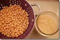 beans and quinoa