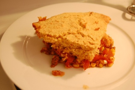 tamale pie slice