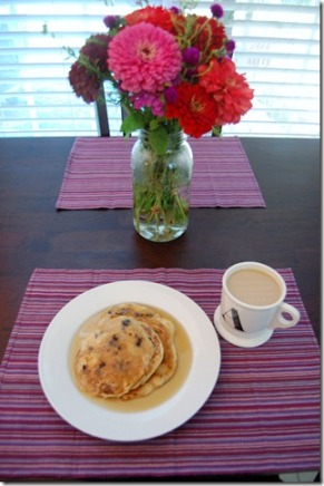 pancakes and flowers