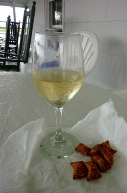 wine and pretzels