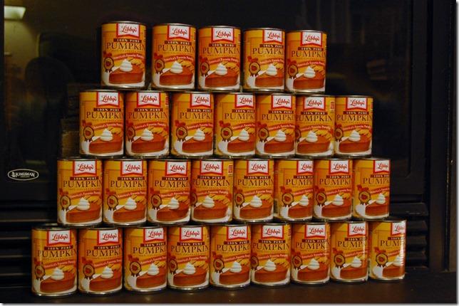 29 cans of pumpkin
