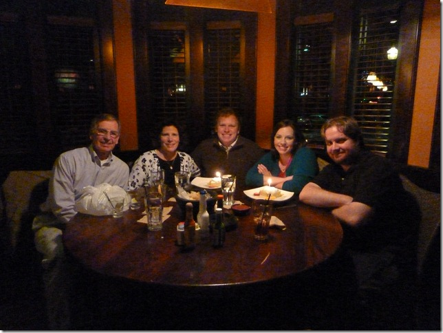 bday dinner - the whole fam