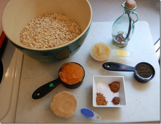 pumpkin granola ingreds
